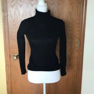 Long sleeve ladies turtleneck sweater